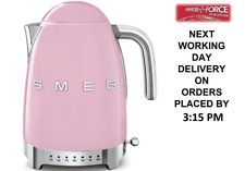 Smeg KLF04PKUK Pink Retro 50's Style Kettle With Variable Temperature 1.7L NEW