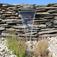 Edelstahl Wasserfall BachlaufWasserauslauf Springbrunnen Wasserspeier 60cm 5