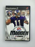 Madden NFL 2002 - Playstation 2 PS2 Game - Complete & Tested