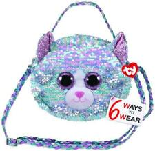TY Gear Sequin Purse - Whimsy the Blue Cat