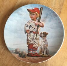 THE BIG LEAGUER by Gregory Perillo Collectors Plate Baseball With COA