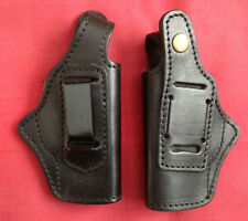 Concealment IWB Black Leather Holster for Walther PPK, Ambidextrous, New