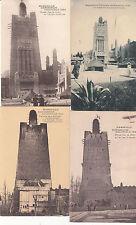 Lot 4 cartes postales anciennes MARSEILLE EXPO COLONIALE afrique occidental tour