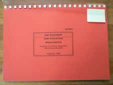 WAR DEPARTMENT ARMY VEHICLES REGULATIONS 1942  KOPIE,PHOTOCOPY  TRUCK, BIKE,JEEP