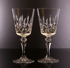 """2 Galway Cut Glass Lead Crystal Baldmore Wine Goblet 1985-87 7 1/8"""" Tall"""