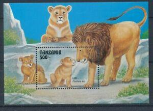 [342341] Tanzania 1993 lions good very fine MNH sheet