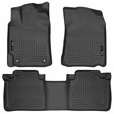 Husky Liners WeatherBeater Floor Mats - 3pc - 98901 - Toyota Camry 12-17 - Black