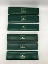 1980's Green Empty Case Authentic P81 Gucci Vintage Watch Box Genuine 6 set
