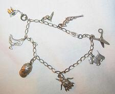 Charms Scotty dog Screwball Saddle Estate Vtg Ster Charm Bracelet 8