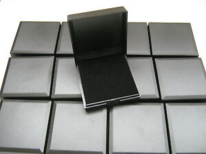 50 X BLACK HINGED PRESENTATION GIFT BOXES FOR PENDANTS, EARRINGS, NECKLACES, ECT