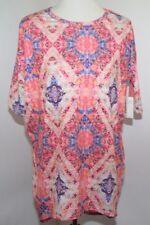 NWT LuLaRoe Irma Multi Color Silk Floral GeometricTunic Top Womens XXS USA Made