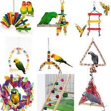 Jouet Suspendue pour oiseau perroquet perruche chaîne balançoire échelle bois