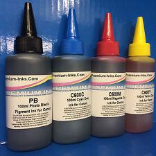 400ML PIGMENT/DYE REFILL INK BOTTLES Canon Pixma G1500 G2500 G3500 G4500 NON OEM