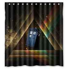 New Design Custom Galaxy Doctor Who Waterproof Bathroom Shower Curtain 66x72