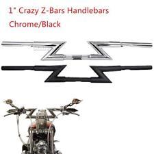 """Motorcycle Handlebar Z Bar 7/8"""" & 1"""" For Honda Suzuki Kawasaki Yamaha Harley"""