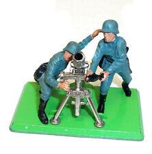 Vintage Britains 1:32  GERMAN INFANTRY & MORTAR Model Toys Soldiers 70's -80's