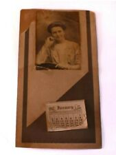 Antique 1910 Calendar Woman's Photograph Picture Photo Tatting On Dress