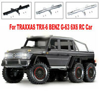 For Traxxas TRX6 Benz G63 6X6 Crawler RC Car Metal Rear Bumper with Tow Hook Kit