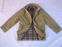 burberry london coat jacket nova chek cotton wool overcoat mens green sz 50/L/XL