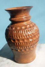 Mid Century Modern West German Pottery Vase Bay Keramik Zig Zag Textured Dots