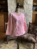 New $68 Pink Peach Python Snake Print Cotton Moto Jacket 16