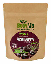 BodyMe Organic Acai Berry Powder 50 g Freeze Dried (Soil Association Certified)