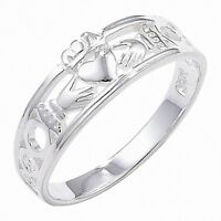 Irish Claddagh Ring Sterling Silver Wedding Band Friendship Love 925 hallmarked