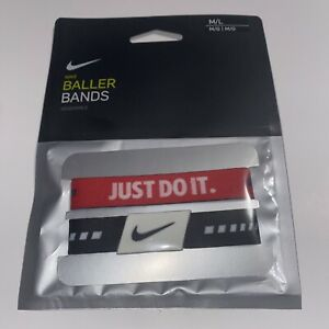 NIKE Reversible Baller Bands One Pair Size M/L New !!!!!