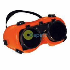 Welding Goggles Clear / No. 5 Green Clear Polycarbonate Safety Lens New