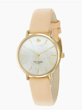 """NEW Kate Spade Womens """"Metro"""" Watch MOP Face with Leather Band - Best Gift!"""