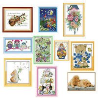 11ct 14ct Counted Cross Stitch Kits Dimensions Stamped Embroidery for Adults