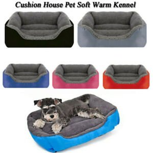 Pet Dog Cat Bed Puppy Cushion House Pet Soft Warm Kennel Dog Mat Blanket Large