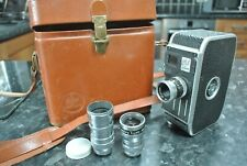 Palliard Bolex C8 Cine Camera with 3 Lenses