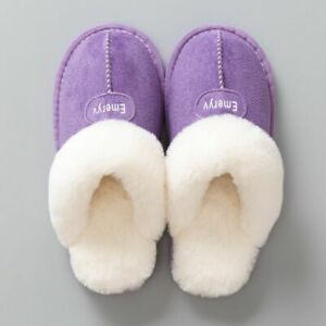 Winter Indoor Shoes Slippers For Women Fabric Rubber Solid Pattern Soft Footwear