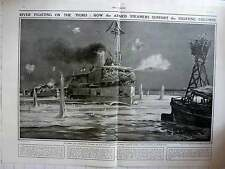 1916 Armed Sandbagged Steamer On The Tigris Fighting In Mesopotamia