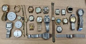 LOT 10: Deceased Watchmaker Estate Vintage Seiko Lavina Citizen Wristwatches