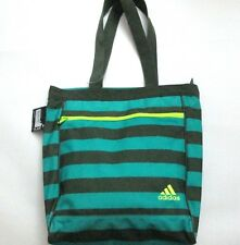 Women's ADIDAS Studio Club Bag green striped  5133552 NWT gym beach tote bag
