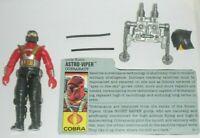 1988 GI Joe Cobra Cobranaut Astro Viper v1 Figure w/ File Card *Near Complete
