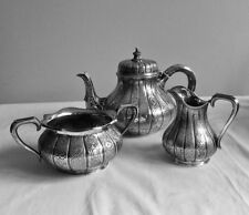 Antique Tea Set Silverplate H&L Lambert Coventry St London T.H & S 19th c 03721