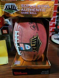 Superbowl XLIII official football Steelers vs Cardinals 6X Champions NIB