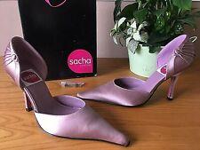 Sasha of London dusky pink satin court shoes UK 6 EU 39 BNIB Bridal