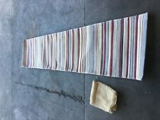 FLOOR RUG TWO 290CM LENGTH X 69CM WIDE IN BLUE WHITE RED AND PURPLE DRYCLEANED