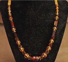 """Beautiful Faceted Baltic Amber Necklace 18.53 grams 19"""" Long"""
