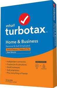 TurboTax Home & Business 2020 Current Year Tax Software - PC or Mac