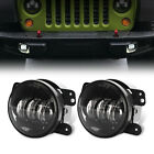Pair 4 Inch 60W CREE LED Fog Light for Jeep Wrangler JK TJ LJ Dodge Hummer H1&H2