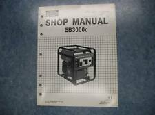 2002 HONDA EB3000C SUPPLEMENT GENERATOR SHOP MANUAL EB3000 C EB 3000 01