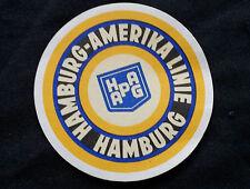 ETIQUETTE BAGAGE HAMBURG AMERICAN LINE baggage SHIP Marine HAPAG