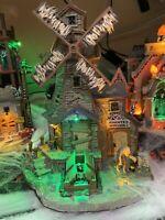 "Lemax NIB Spooky Town ""The Haunted Windmill"" RARE & RETIRED 2008 Halloween"
