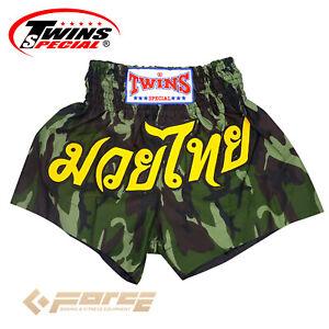 Boxing Pants Trunks Shorts Adult Muay Thai Kick Boxing TWINS Satin Army Green