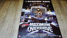 stephen king MAXIMUM OVERDRIVE  ! affiche cinema , trucks